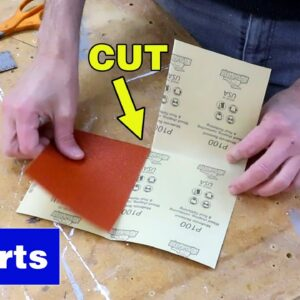 How to fold sandpaper. #shorts