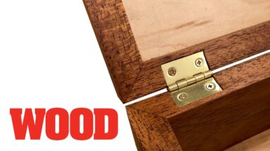 How To Mortise Box Hinges - WOOD magazine