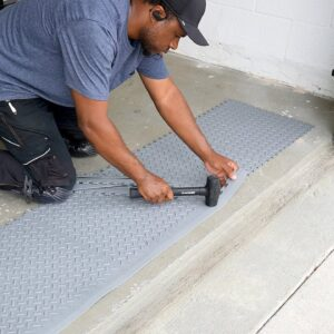 How I upgraded my garage floor (HUGE Difference)